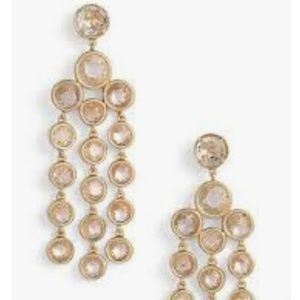 Kate Spade Chandelier earrings subtle sparkle